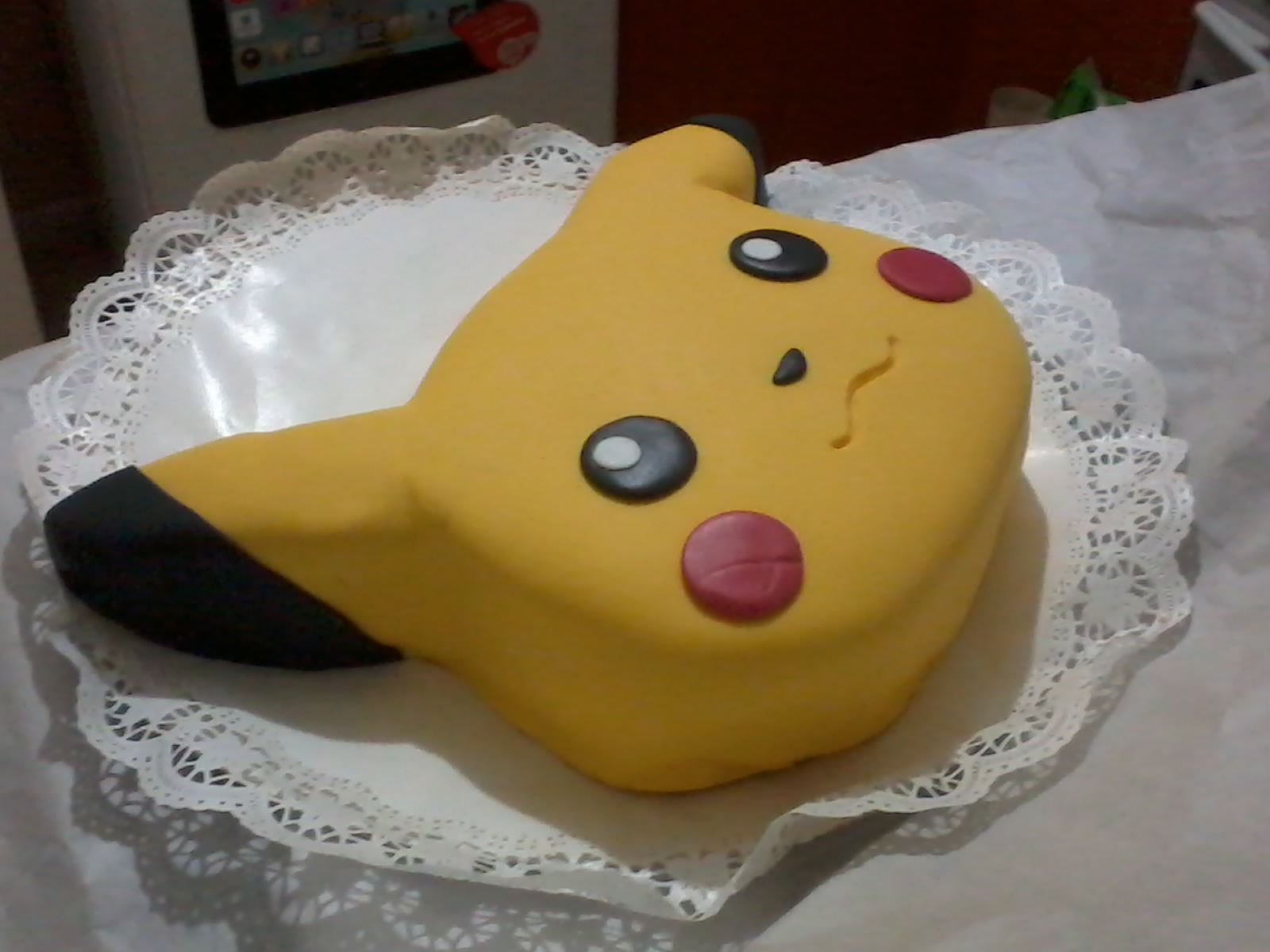 torta de pikachu en fondart por bianca poblete pasteler a mostacillas multifan blog. Black Bedroom Furniture Sets. Home Design Ideas